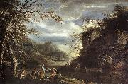 ROSA, Salvator River Landscape with Apollo and the Cumean Sibyl  gq oil painting picture wholesale